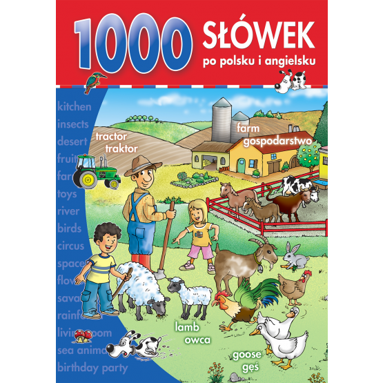 Książka 1000 słówek po polsku i po angielsku Praca zbiorowa