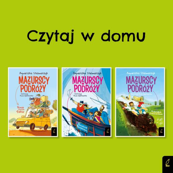 Książka Czytanie 9+. Pakiet nr 8. 3 książki Agnieszka Stelmaszyk