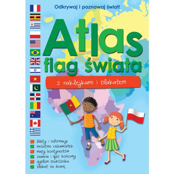 Książka Atlas flag świata z naklejkami i plakatem Praca zbiorowa