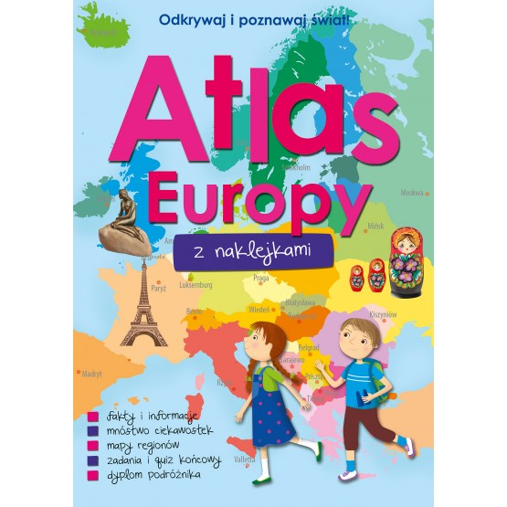 Książka Atlas Europy z naklejkami praca zbiorowa