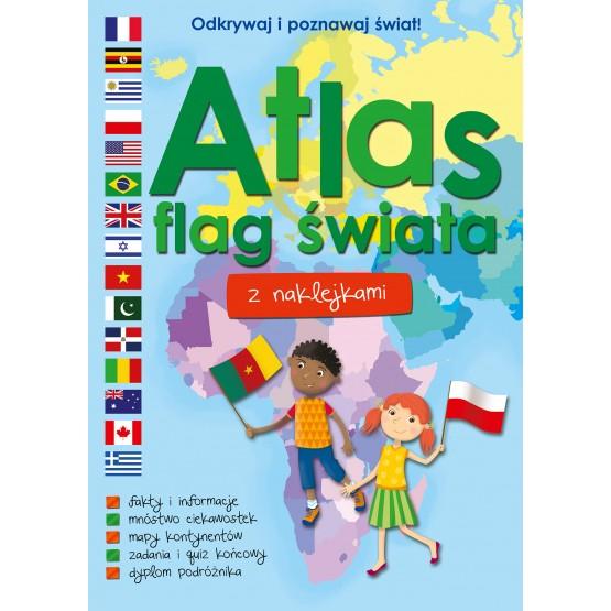 Książka Atlas flag świata z naklejkami praca zbiorowa