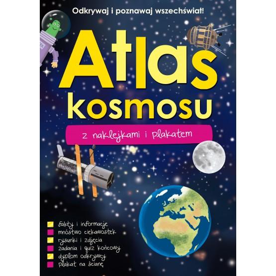 Książka Atlas kosmosu z naklejkami i plakatem praca zbiorowa