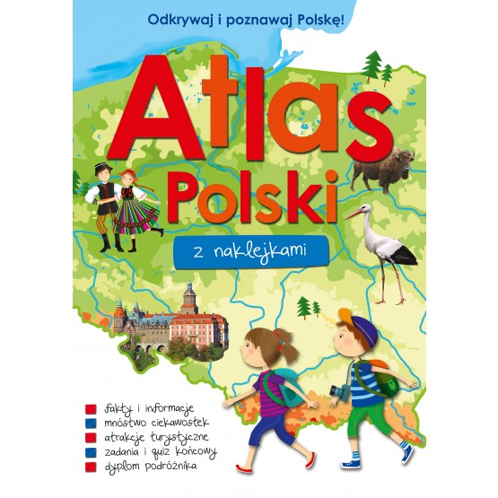 Książka Atlas Polski z naklejkami praca zbiorowa