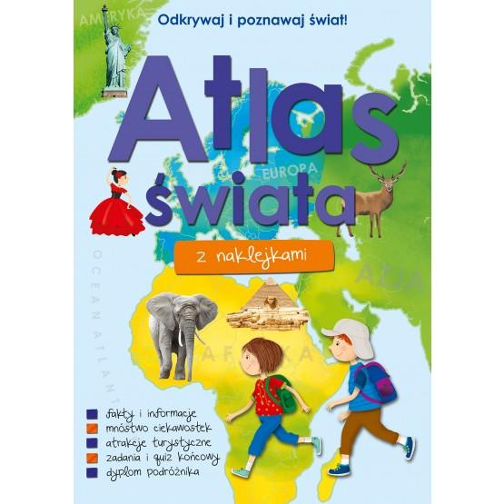 Książka Atlas świata z naklejkami praca zbiorowa