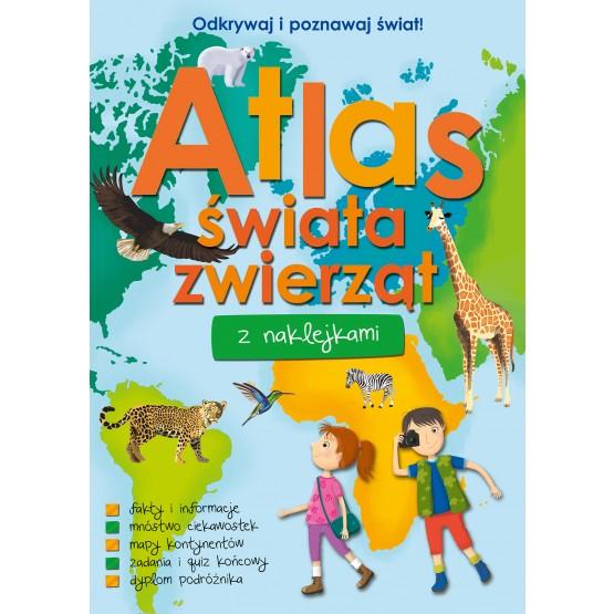 Książka Atlas świata zwierząt z naklejkami praca zbiorowa