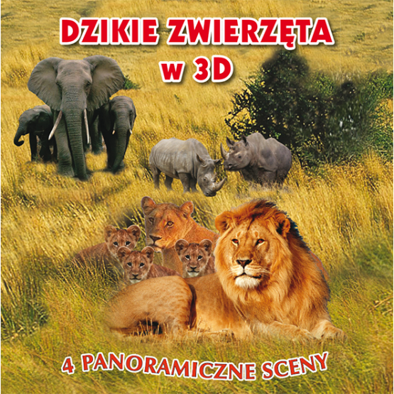Książka Dzikie zwierzęta w 3D Praca zbiorowa