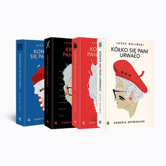Książka Pakiet 4 tomy. Jacek Galiński. Komedia kryminalna Jacek Galiński