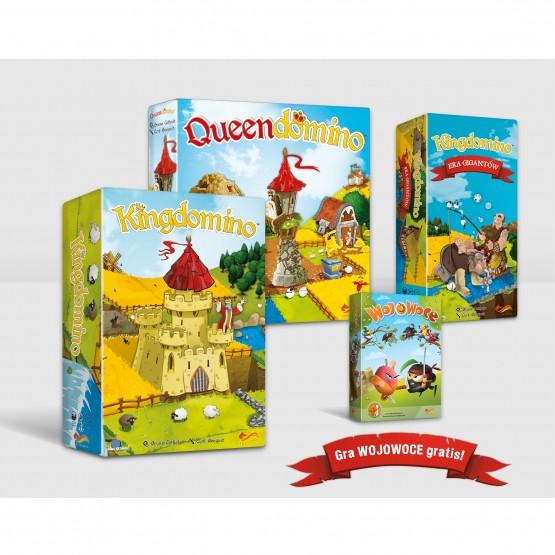 Gra familijna Pakiet: Kingdomino / Queendomino / Kingdomino - Era Gigantów + GRATIS