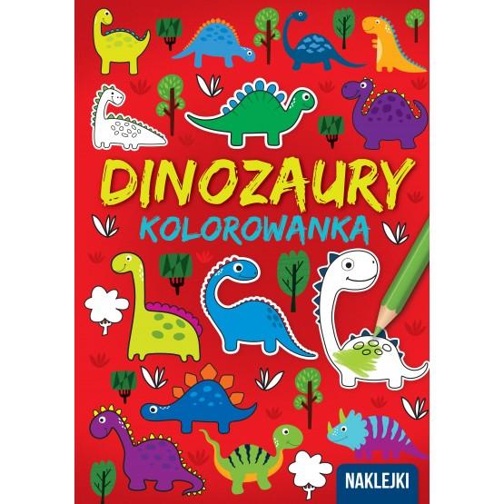 Książka Kolorowanka A4. Dinozaury praca zbiorowa