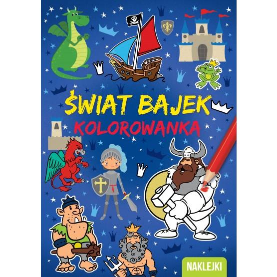 Książka Kolorowanka A4. Świat bajek praca zbiorowa