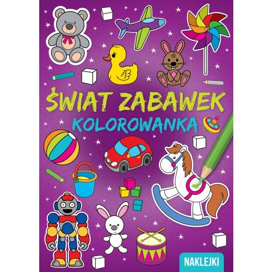 Książka Kolorowanka A4. Świat zabawek praca zbiorowa
