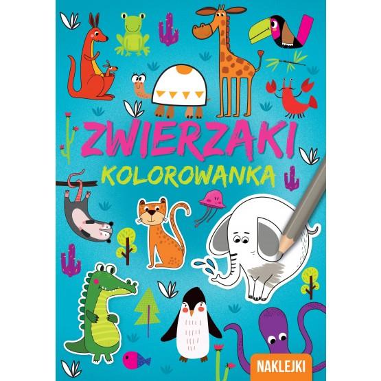 Książka Kolorowanka A4. Zwierzaki praca zbiorowa