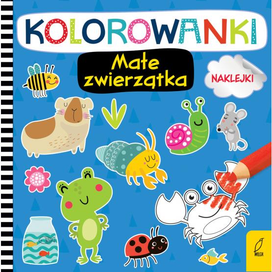 Książka Kolorowanki z naklejkami. Małe zwierzątka Praca zbiorowa