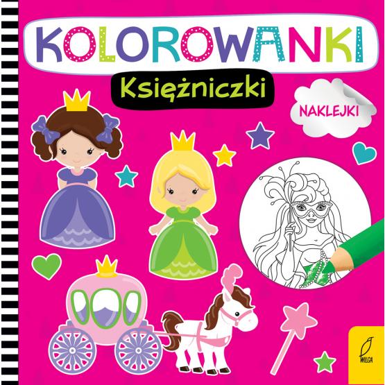 Książka Kolorowanki z naklejkami. Księżniczki Praca zbiorowa