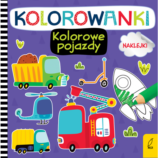 Książka Kolorowanki z naklejkami. Kolorowe pojazdy Praca zbiorowa