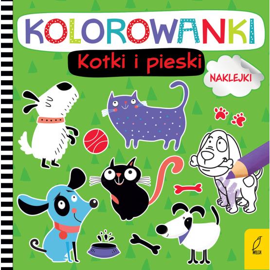 Książka Kolorowanki z naklejkami. Kotki i pieski Praca zbiorowa