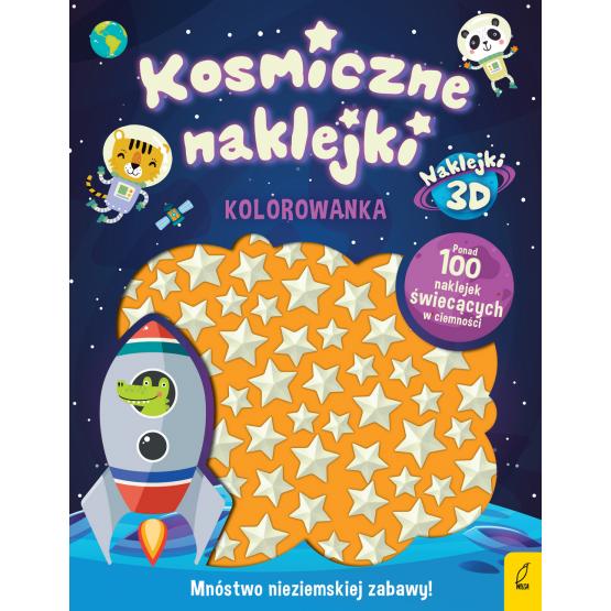 Książka Kosmiczne naklejki. Kolorowanka Praca zbiorowa