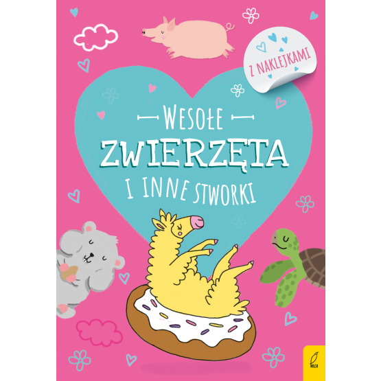 Książka Koloruję.Wesołe zwierzęta i inne stworki. Zwierzęta, Flamingi, Stworki-Potworki Praca zbiorowa