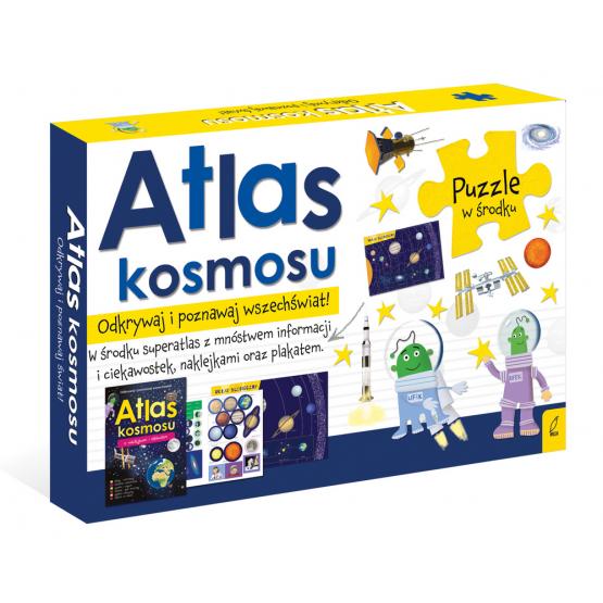 Książka Pakiet Atlas kosmosu: Atlas w zestawie z mapą i puzzlami Praca zbiorowa
