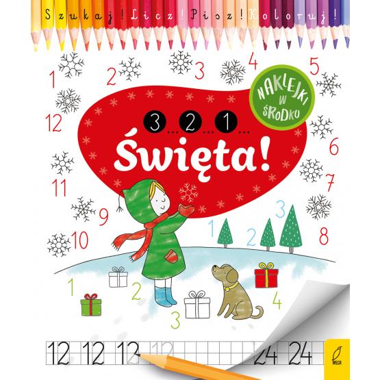Książka 3...2...1... Święta! Szukaj. Licz. Koloruj Praca zbiorowa