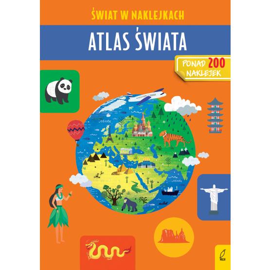 Książka Atlas świata. Świat w naklejkach Patrycja Zarawska