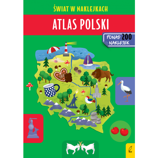 Książka Atlas Polski. Świat w naklejkach Patrycja Zarawska