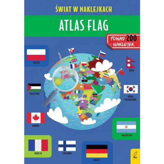 Książka Atlas flag. Świat w naklejkach Patrycja Zarawska