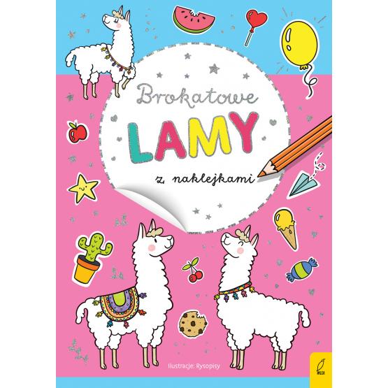 Książka Brokatowe lamy z naklejkami Praca zbiorowa