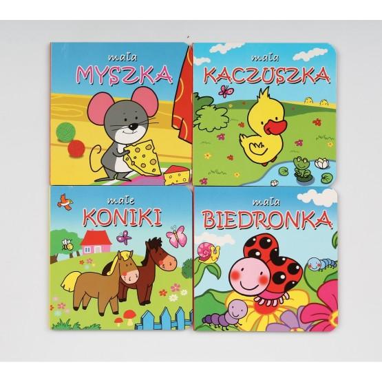 Książka Małe zwierzątka. Pakiet 4 książeczek praca zbiorowa