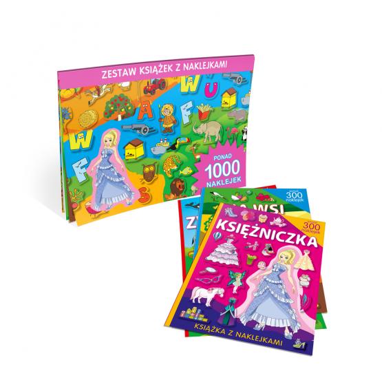 Książka Teczka dla dziewczynek. Księżniczka, Zwierzęta, Literki Praca zbiorowa