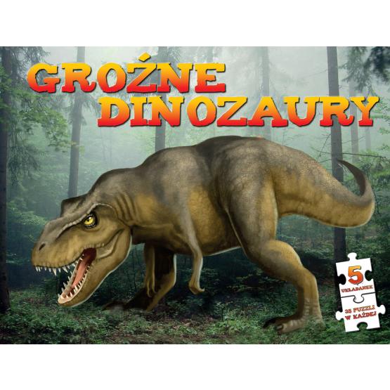 Książka Puzzle. Groźne dinozaury Praca zbiorowa