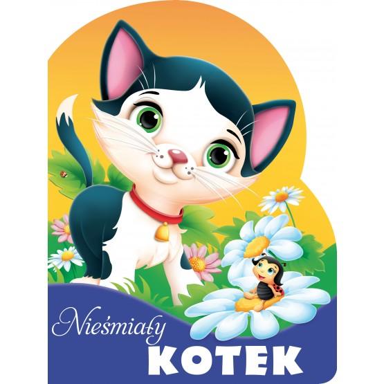 Książka Nieśmiały kotek. Wykrojnik Kozłowska Urszula