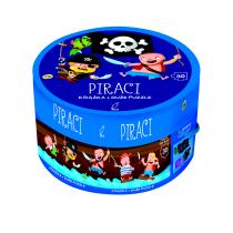 Praca zbiorowa Piraci. Książka z puzzlami w pudełku