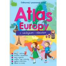 Praca zbiorowa ATLAS EUROPY Z NAKLEJKAMI I PLAKATEM