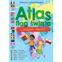 Praca zbiorowa Atlas flag świata z naklejkami i plakatem