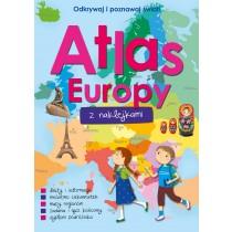 praca zbiorowa Atlas Europy z naklejkami