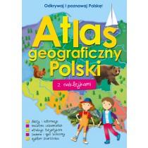 praca zbiorowa Atlas geograficzny Polski z naklejkami