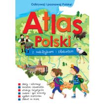 Praca zbiorowa Atlas Polski z naklejkami i plakatem
