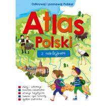 praca zbiorowa Atlas Polski z naklejkami