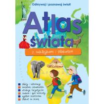 Praca zbiorowa Atlas świata z naklejkami i plakatem