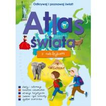 praca zbiorowa Atlas świata z naklejkami