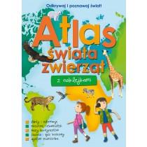 praca zbiorowa Atlas świata zwierząt z naklejkami