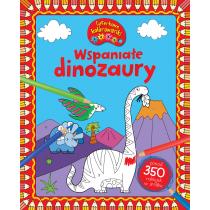 Praca zbiorowa Wspaniałe dinozaury. CYFERKOWE KOLOROWANKI
