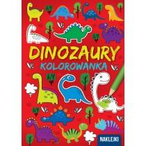 praca zbiorowa Kolorowanka A4. Dinozaury
