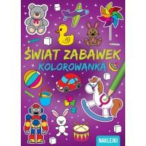 Kolorowanka A4. Świat zabawek