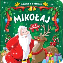Praca zbiorowa Książka z puzzlami. Mikołaj