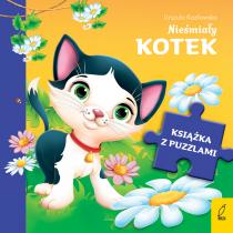 Urszula Kozłowska Książka z puzzlami. Nieśmiały kotek