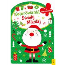 Praca zbiorowa Kolorowanka z wykrojnikiem. Święty Mikołaj
