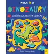 Praca zbiorowa Wypukłe naklejki. Dinozaury