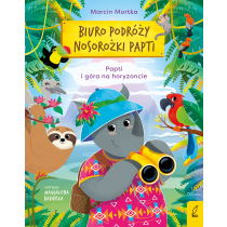 Marcin Mortka Biuro podróży nosorożki Papti. Papti i góra na horyzoncie